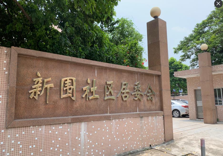 东莞新围社区居委会大楼玻璃贴单项透视隔热膜