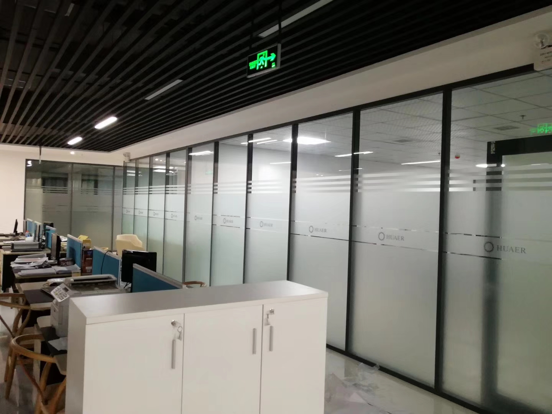 广州工业园办公室磨砂贴膜案例