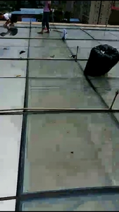 广州医院玻璃采光顶贴隔热膜案例
